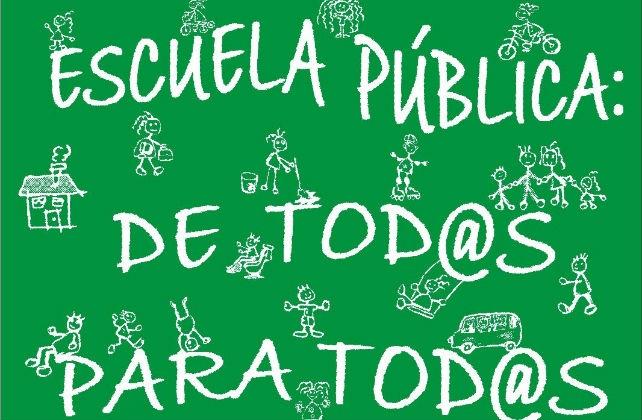 Moción en defensa de la escuela pública, laica y gratuita.