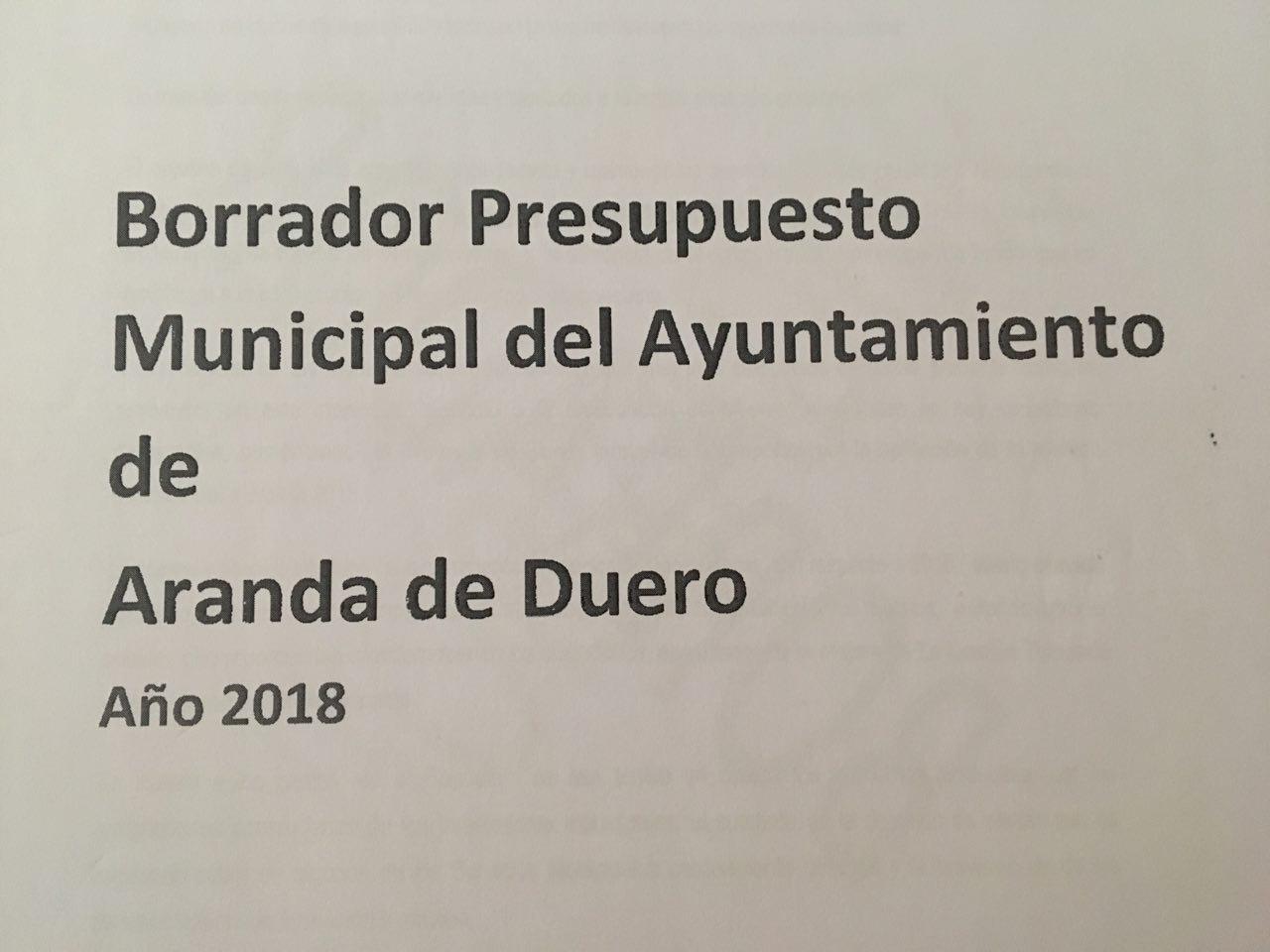 Enmiendas al presupuesto de 2018