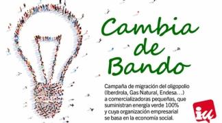 """IU presenta la campaña 'Cambia de Bando' para """"promover la migración"""" del consumo energético desde las """"grandes comercializadoras del oligopolio a las basadas en la economía social"""""""
