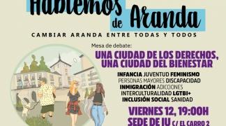 Continúan los debates públicos de la plataforma Hablemos de Aranda para elaborar una alternativa de ciudad.