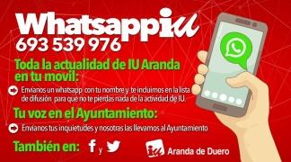 IU habilita un número de Whatsapp para comunicarse con la ciudadanía.